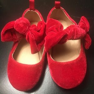 Baby Gap Red Velvet with bow Size 6